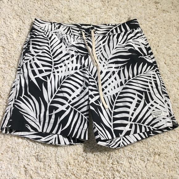 dbf3cc03c6c Modern Amusement Swim | Pacsun Black And White Printed Trunks | Poshmark